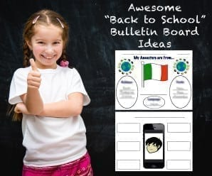 cute happy little girl with thumbs up on the background of the school board