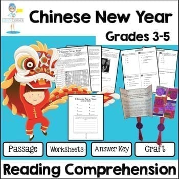 Chinese New Year Reading Passage with Comprehension Assessment and ...